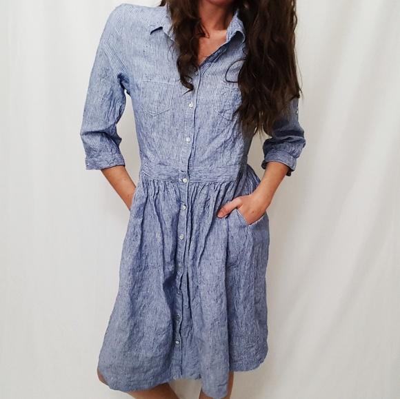 fbbc2e80d9b Malvin Hamburg Germany 100% linen dress -C5. M 5a45bbe49cc7ef5d540fb4b5